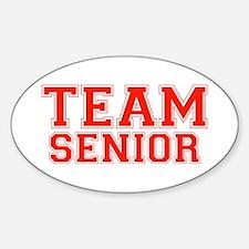 Team Senior Oval Decal
