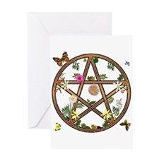 """Living Pentagram"" Greeting Card"
