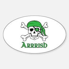Irish Pirate Sticker (Oval)
