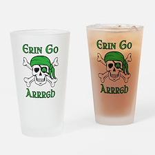 Irish Pirate Drinking Glass