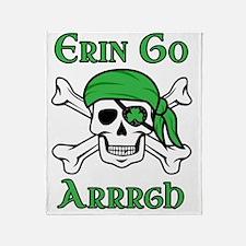 Irish Pirate Throw Blanket
