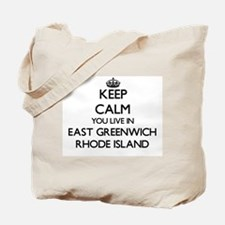 Keep calm you live in East Greenwich Rhod Tote Bag