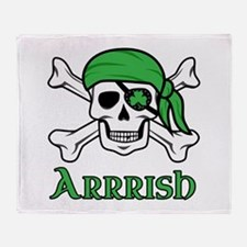 Irish Pirate - Arrrish Throw Blanket
