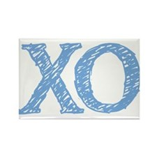 XO - baby blue Rectangle Magnet