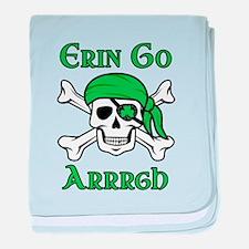 Irish Pirate - Erin Go Arrrgh baby blanket