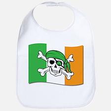 Irish Jolly Roger Pirate Flag Bib