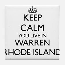 Keep calm you live in Warren Rhode Is Tile Coaster