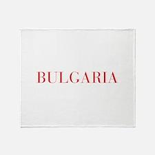 Bulgaria-Bau red 400 Throw Blanket