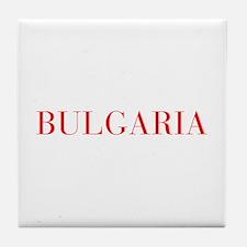 Bulgaria-Bau red 400 Tile Coaster