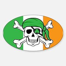 Irish Jolly Roger - Pirate Flag Decal