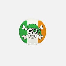 Irish Jolly Roger - Pirate Flag Mini Button