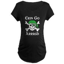 Irish Pirate - Erin Go Arrrgh Maternity T-Shirt