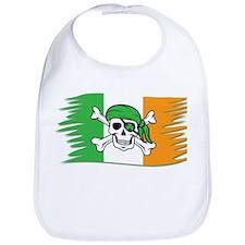 Irish Pirate Flag - Jolly Roger Bib