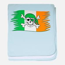 Irish Pirate Flag - Jolly Roger baby blanket