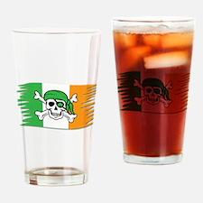 Irish Pirate Flag - Jolly Roger Drinking Glass