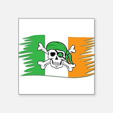 Irish Pirate Flag - Jolly Roger Sticker