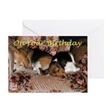 Beagle birthday Greeting Cards
