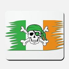 Irish Flag Jolly Roger - Pirate Flag Mousepad