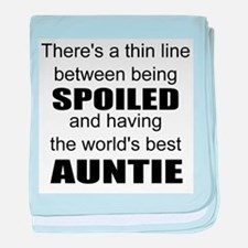 Funny auntie baby blanket