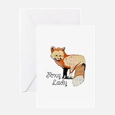 FOXY LADY Greeting Cards