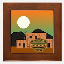PUEBLO SUNRISE Framed Tile