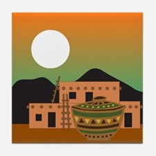 PUEBLO SUNRISE Tile Coaster