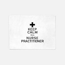 Keep Calm Nurse Practitioner 5'x7'Area Rug