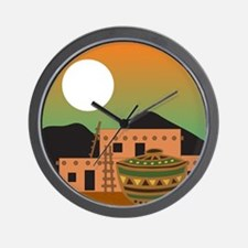 PUEBLO SUNRISE Wall Clock