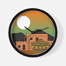 PUEBLO SUNRISE Wall Clock