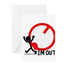I'm Out. Greeting Cards