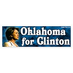 Oklahoma for Clinton Bumper Bumper Sticker