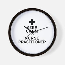 Keep Calm Nurse Practitioner Wall Clock