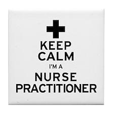 Keep Calm Nurse Practitioner Tile Coaster