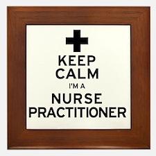 Keep Calm Nurse Practitioner Framed Tile