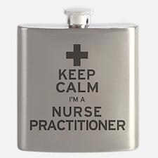 Keep Calm Nurse Practitioner Flask