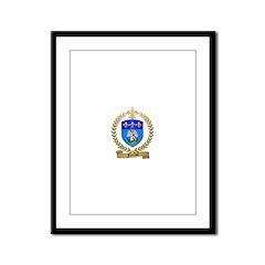 FERRON Family Crest Framed Panel Print