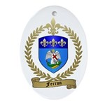 FERRON Family Crest Oval Ornament
