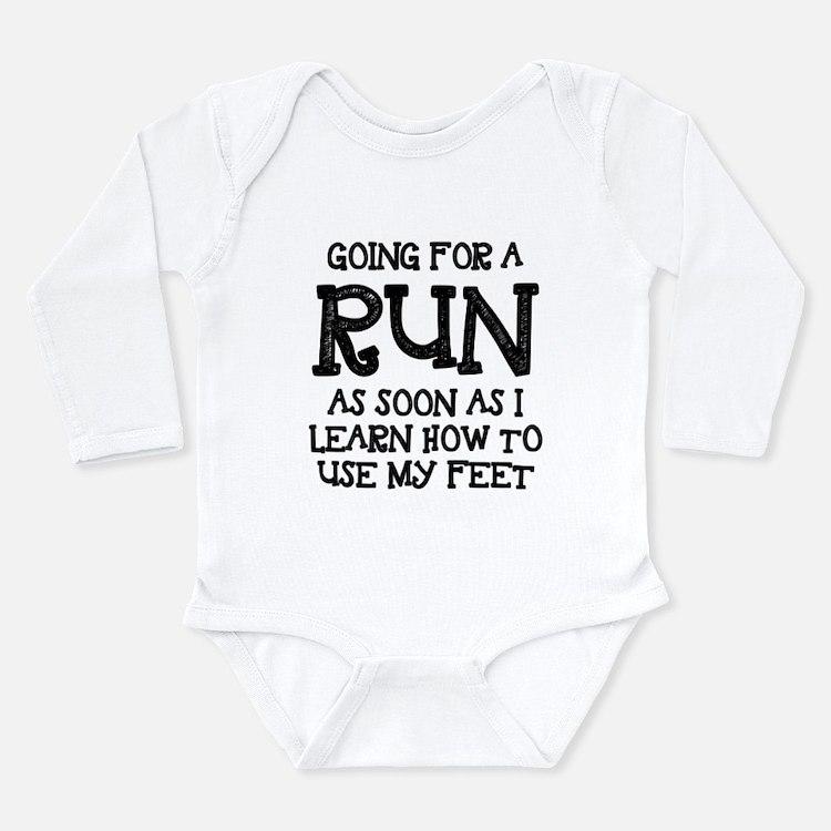 Future Runner Long Sleeve Infant Bodysuit