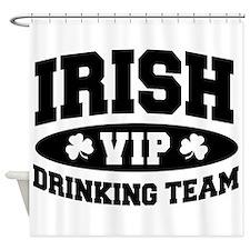 Irish Drinking Team (Black) Shower Curtain