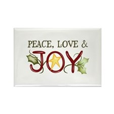PEACE LOVE AND JOY Magnets