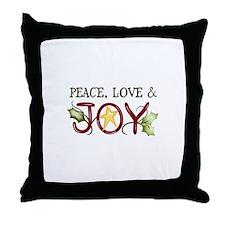 PEACE LOVE AND JOY Throw Pillow
