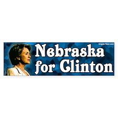 Nebraska for Clinton Bumper Bumper Sticker