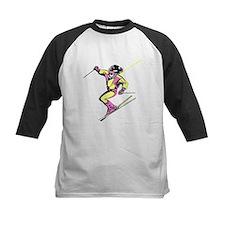 Woman Skiing Baseball Jersey