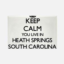 Keep calm you live in Heath Springs South Magnets