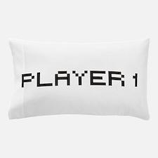 Player 1 8 Bit Pillow Case