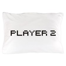 Player 2 8 Bit Pillow Case