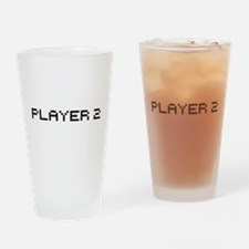 Player 2 8 bit Drinking Glass