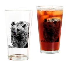 Brown Bear Drinking Glass