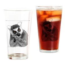 Lemurs Drinking Glass