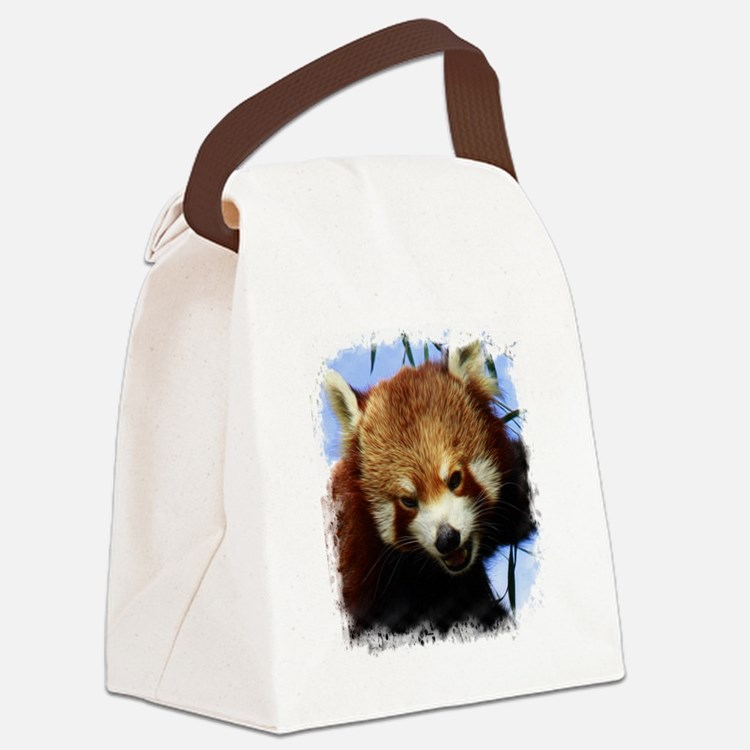Red Pandas Canvas Lunch Bag